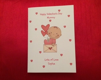 Personalised Valentine's  Card - Personalized Valentine's Card -  Valentine's Daddy, Valentine's Mummy, Valentine's Nanny, Valentine Auntie
