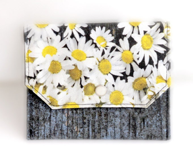 Essential Oil Bag, Cotton Snap Pouch, Holiday Gift, Chamomile Photography Pouch, Essential Oil Travel Pouch, Cotton Bag, Digital Print
