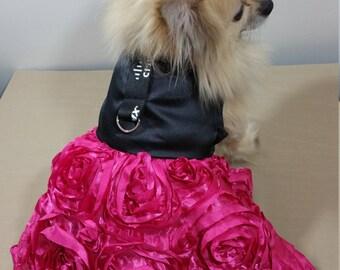 Rose Magenta Dog Dress