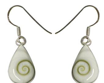 Shivaauge drop Silver earrings silver back earrings 925 sterling silver Shiva eye eye jewelry (No. OSH-28B)