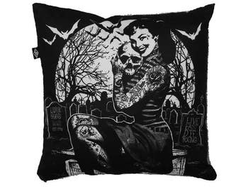 Live Fast Die Young cushion