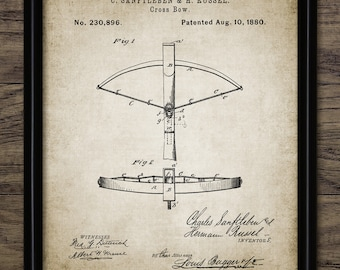 Crossbow Patent Print - Crossbow Design - Projectile Weapon Invention - Weapon - Crossbow Bolt - Single Print #2156 - INSTANT DOWNLOAD