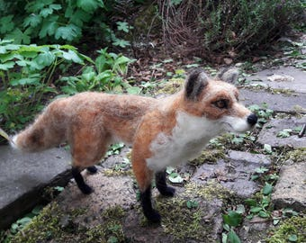 OOAK needle felted red fox