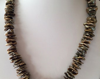 Pearl Necklace with 14k Accents