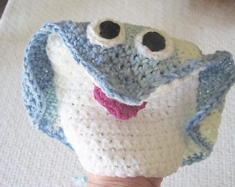 Puppet washcloth for kids, stingray puppet for Bath time