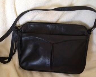 Derek Dal Alexander black leather handbag cross body