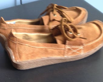 Women's Lei Brown suede tie oxford shoes size