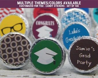 High School Graduation - High School Graduation Party Ideas - High School Graduation Ideas - 108 PRINTED Hershey® Kiss Stickers