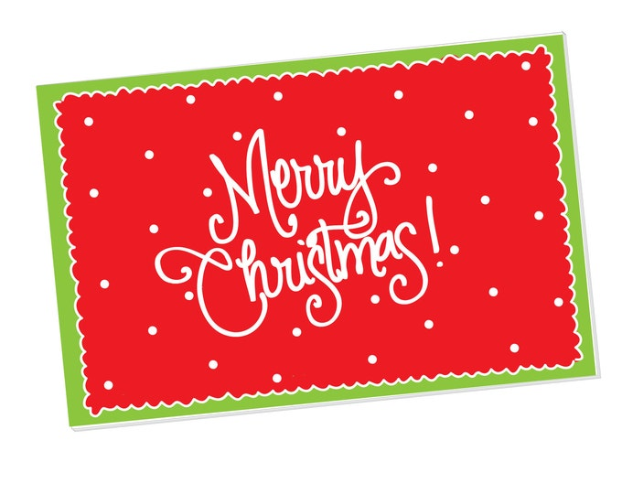 Paper Placemats - Merry Christmas! with Dots