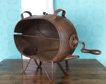 French Vintage Spit Roaster - Chicken Roaster -  French Rotisserie -  Rotissoire  Rustic French Spit Roast - French Country Kitchen