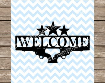 Welcome SVG Welcome Sign svg Home svg dxf Welcome cut file cricut silhouette cameo cutting file svg designs svg files Stars svg