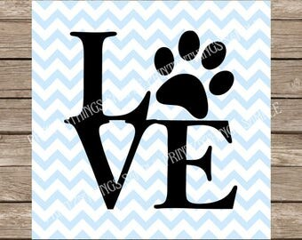 Love svg, love, pet, pet svg, Dog svg, dog, Paw print svg, Pets, Dog Clipart files, svg files, svg, svg designs, svg file, silhouette, dogs