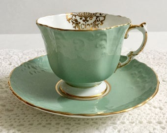 Antique Aynsley China Tea Cup & Saucer