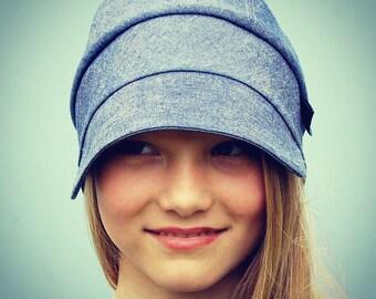 Womens denim newsboy cap|denim workwear cap| ZUTgeorgie chore cap