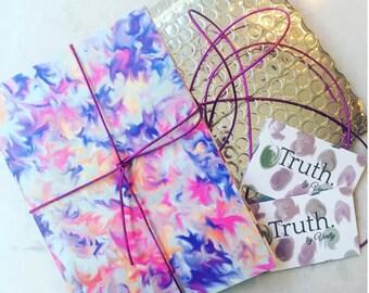 Burst print patterned A5 lined notebook