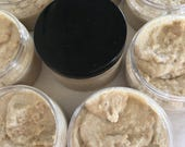 Oatmeal Om Facial Scrub. Organic Oatmeal. Lavender. Essential Oils. Organic Argan. Organic Shea Butter. Made in UT