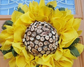 Best seller, favorite sunflower burlap wreath