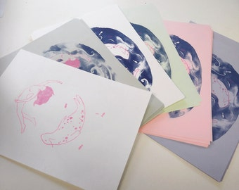 Limited Edition A4 Selkie risograph print
