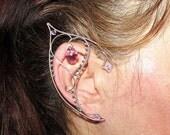 BLACK FRIDAY SALE Elf Ears - Swan Lady, elf ear cuff, elf ear wrap, swan jewelry, elf cosplay, Larp, costume jewelry, elvish jewelry, for Ha