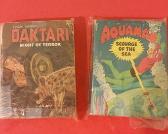 Vintage Big Little Books, Aquaman and Daktari