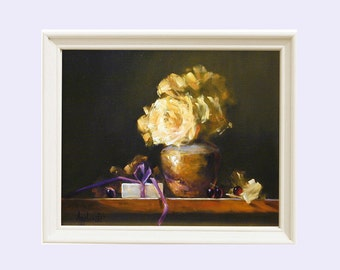 Anniversary Gift, Painting, Roses, Still life print, Still life painting, Gift for her, Art prints, Wall art Roses, Giclee, Oil painting