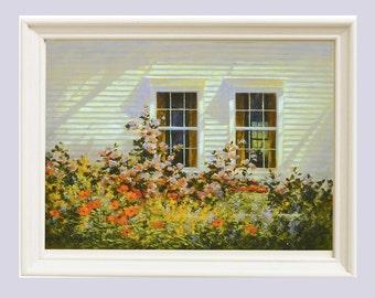 Landscape Print, Apartment Decor, Cottage Decor, Garden Print, Art Prints, Giclee Print, Maine Art, Wall art, Home decor, Oil Painting,