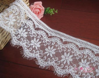 3pieces/lot 13cm*3 meters High quality black/off white eyelash laciness computer embroidery laciness accessories lace decoration