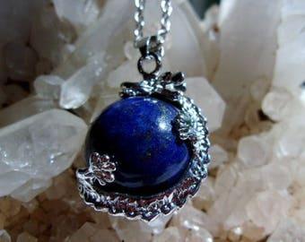 Dragon and Lapis Lazuli Amulet