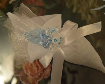 Cone Favor bag  with craft flowers, Wedding Favors Bomboniere, First Communion favors, handmade italian favors