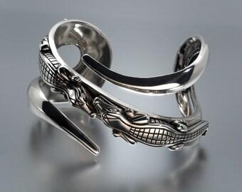 BARRY KIESELSTEIN CORD Sterling Alligator Cuff Bracelet with Diamond Eyes