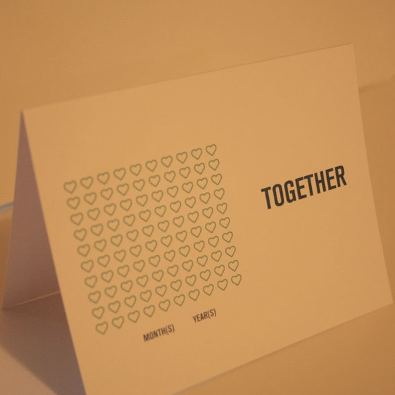 Together anniversary card
