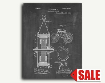 Patent Print - Electrical Bicycle Patent Wall Art Poster
