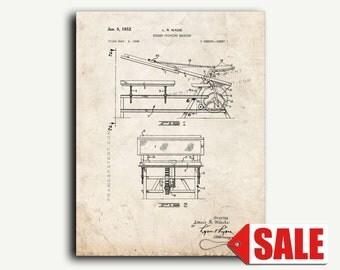Patent Art - Screen Printing Machine Patent Wall Art Print