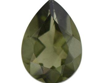 Moldavite Loose Gemstone Pear Cut 1A Quality 7x5mm TGW 0.45 Cts.