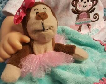 "15 inch baby doll lovey blankie blanket ""My Tutu Cute Lovey"" security blanket J8"