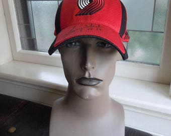 Signed by Larry Steele 1990s Portland Trailblazers Hat -- L/XL