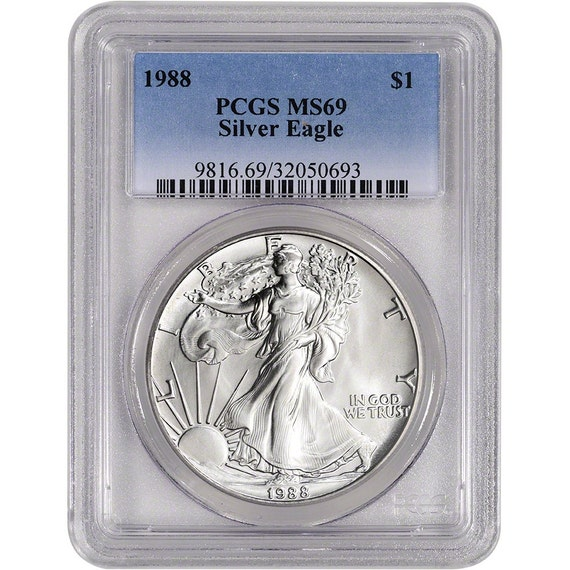 1988 American Silver Eagle PCGS MS69 Coin