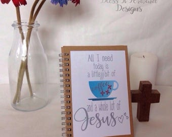 Whole Lot of Jesus notebook / journal - wire bound A6 / A5 notebook - baptism gift - Christian faith gift