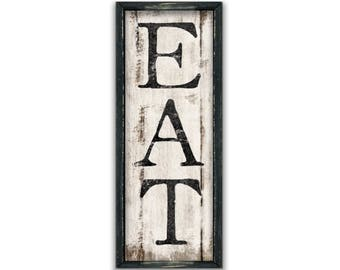Eat Wall Decor eat sign small eat wooden sign 12x6 kitchen wall decor