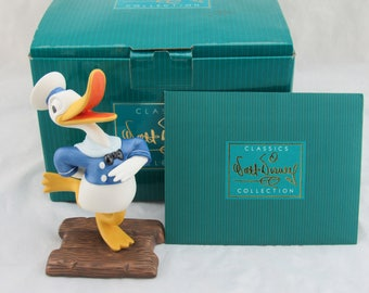 """WDCC """"Donald's Debut"""" Donald Duck from Disney's The Wise Little Hen in Box COA"""