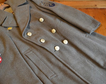 WWII Army Officer's Winter Wool Trench Coat