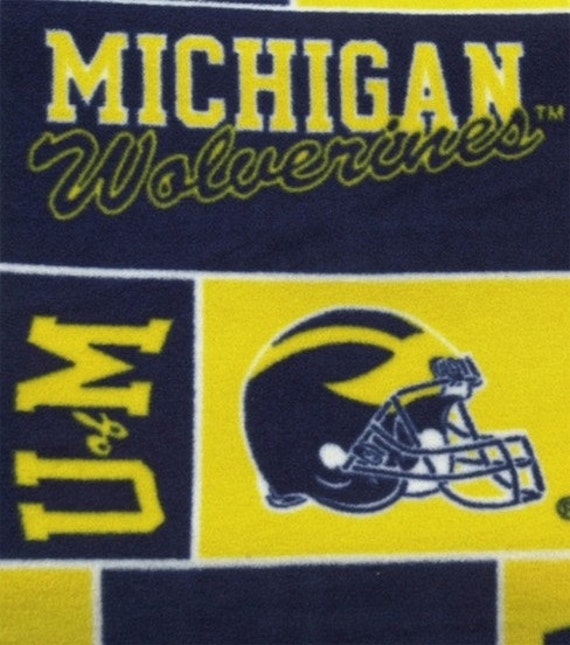 Michigan Wolverines Fleece Throw | Ohio State Buckeyes Blanket | Oregon Ducks | Texas Longhorns | West Virginia Mountaineers | Football