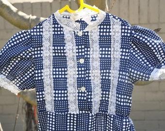 70's Size 6 Girls Prairie Dress