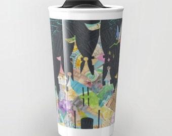 Mother's day gift, Princess castle Mug, Castle Travel Mug, coworker gift, ceramic travel mug, gift for teacher, coffee mug, gifts under 30