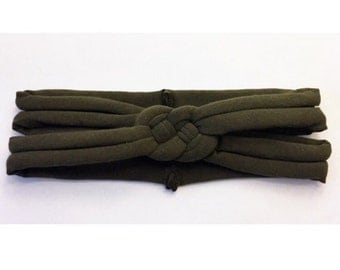 ADULT Army Green sailors knot headband