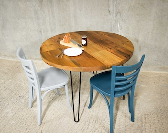 ORBIT | Dining Table | Reclaimed Timber with Hairpin Legs