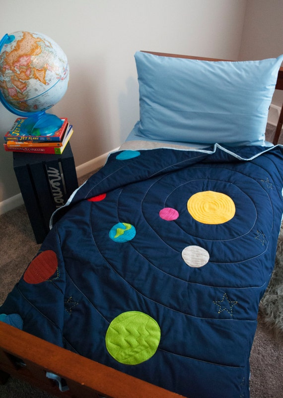All solar systems go bedding 100 cotton for Solar system fleece fabric