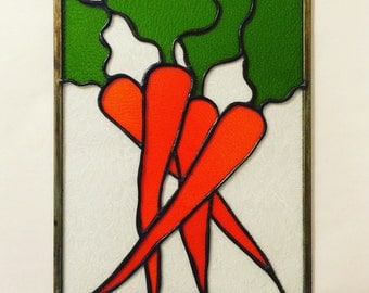 Carrots Stained Glass