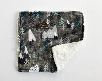 READY TO SHIP Minky Lovey ~ Max's Map Charcoal