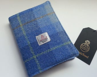 Notebook with Blue Harris Tweed Cover